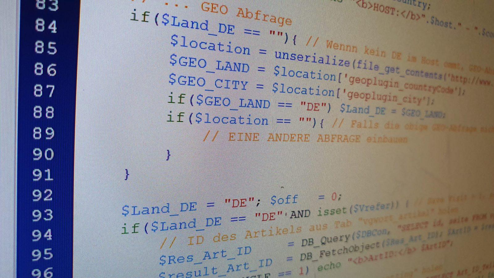 PHP und HTML Code auskommentieren