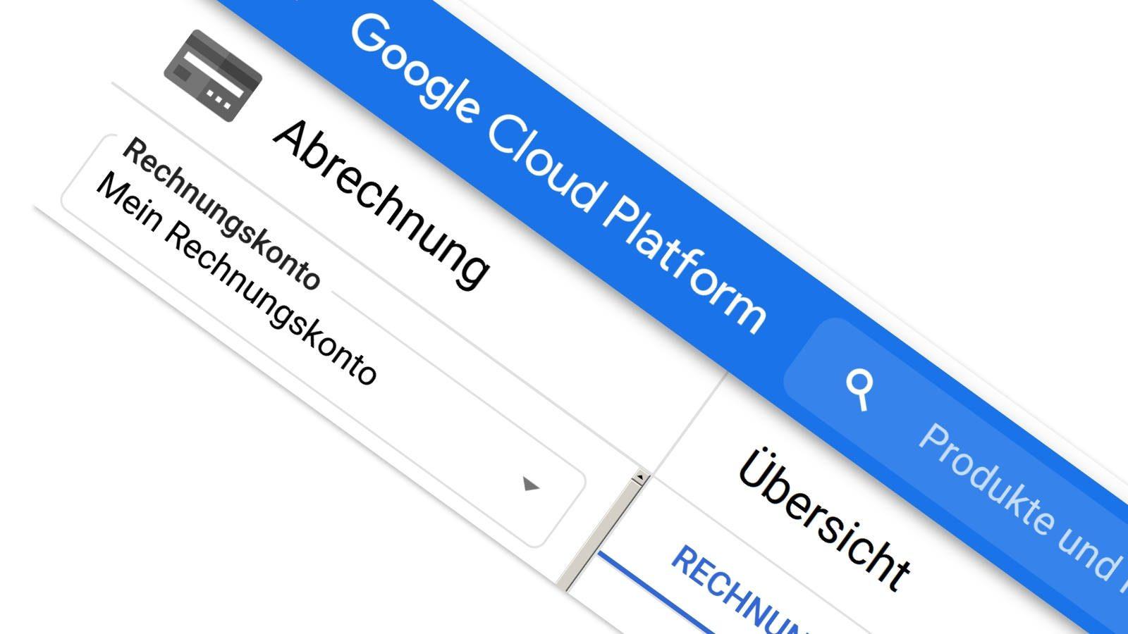 Rechnungskonto für die Google Cloud Platform erstellen