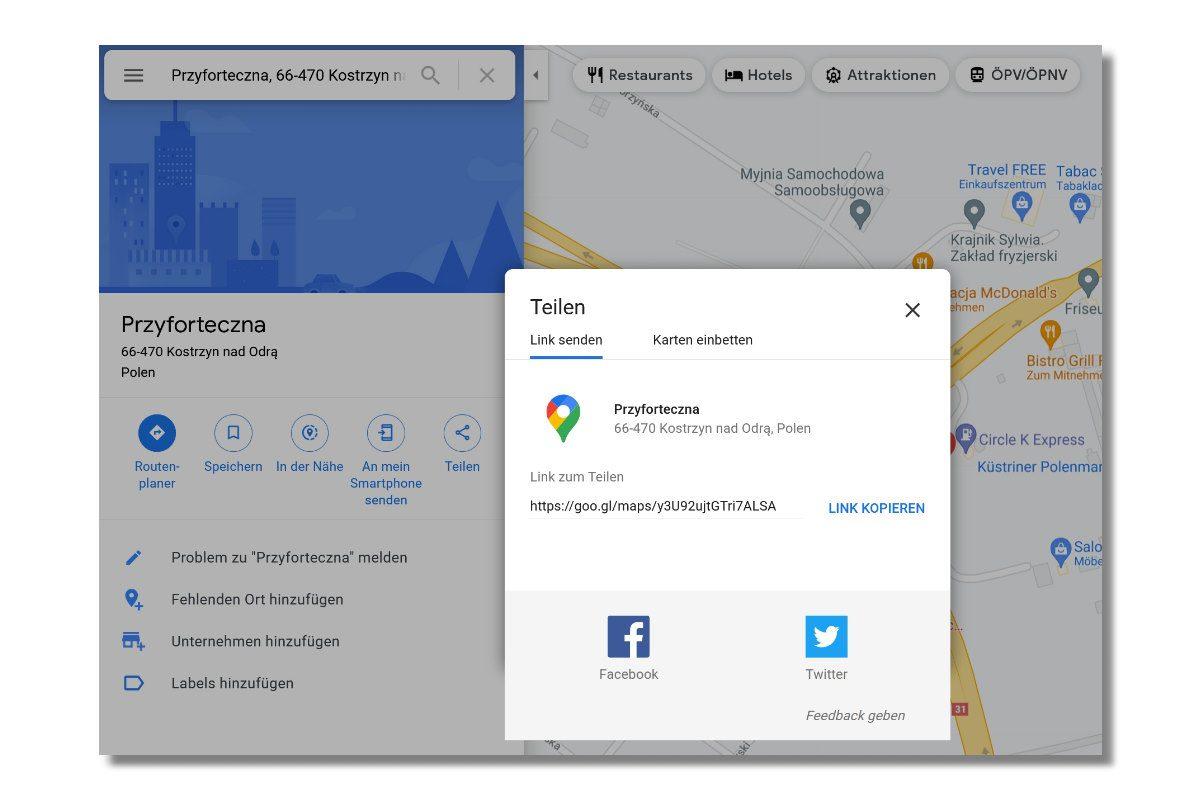 Google Maps Geokoordinaten für iFrame