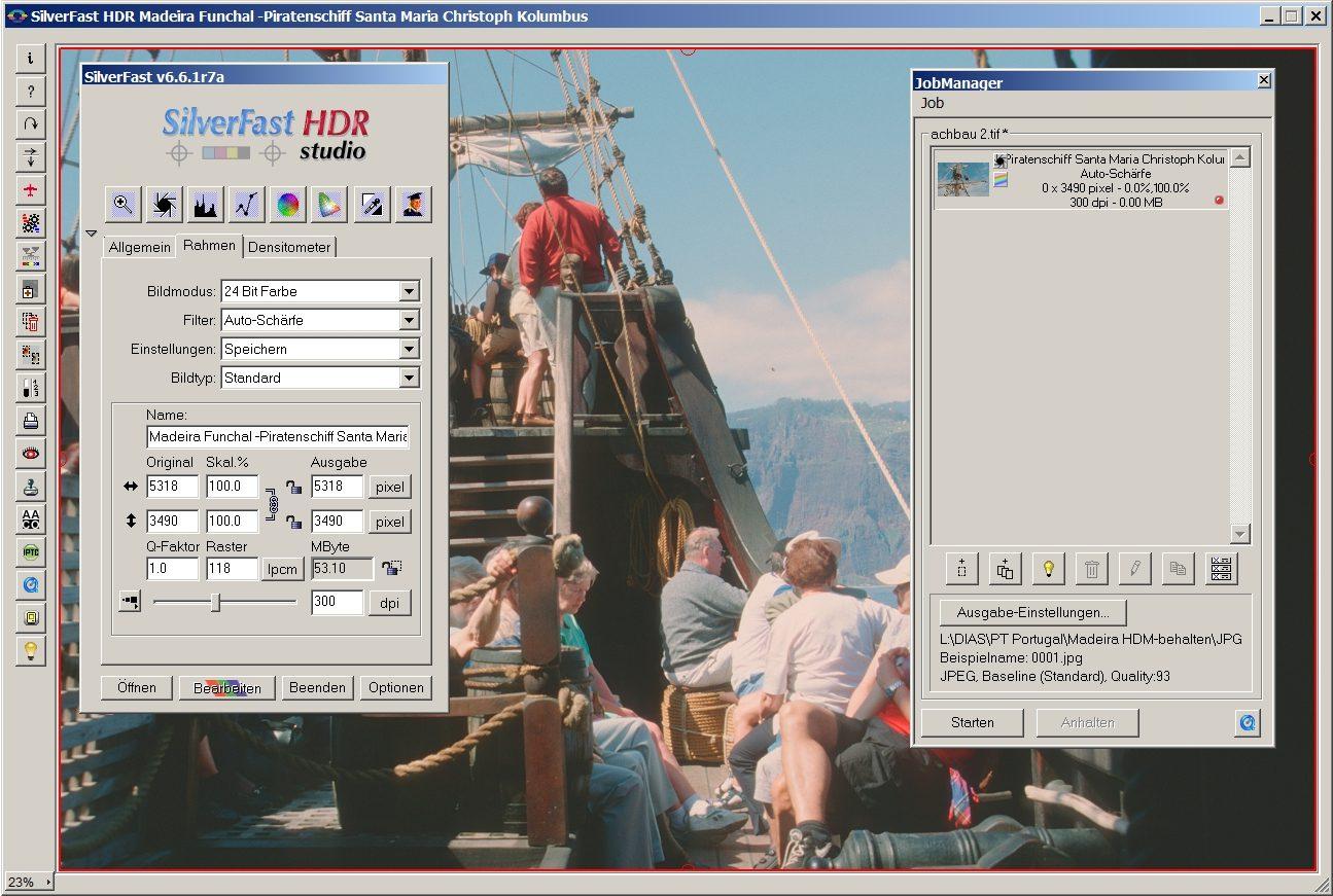 Silverfast HDR Studio Fehler Jobmanager Stapelverarbeitung Dateiname zu lang