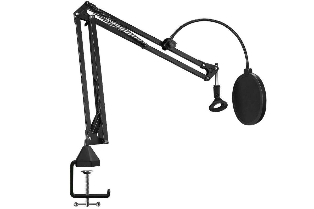 TONOR Mikrofon Ständer mit Popschutz