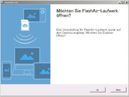 TOSHIBA FlashAir W-04 Konfiguration FlashAir Laufwerk