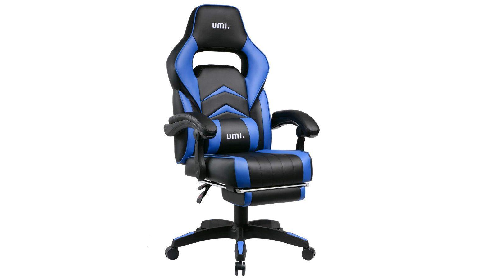 UMI Gaming Stuhl - Ergonomisches Chefsessel mit Fußstützen