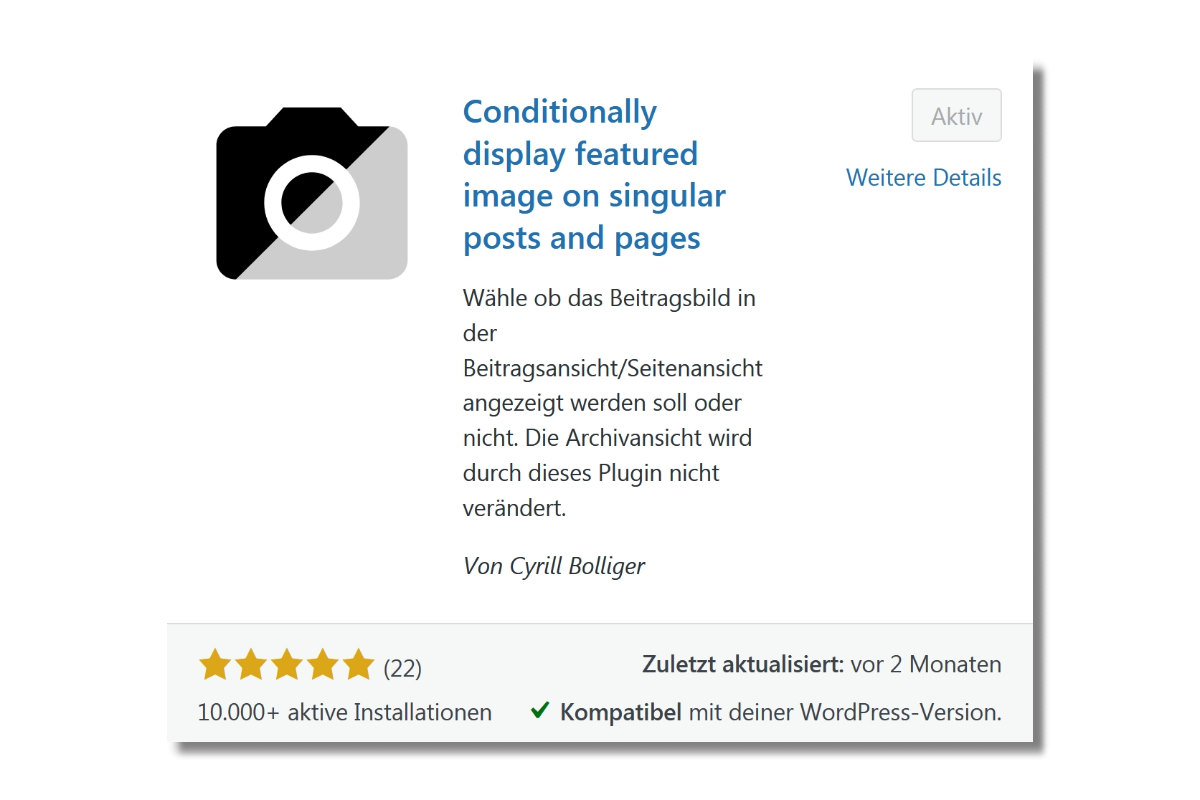Wordpress Plugin - Conditionally display featured image