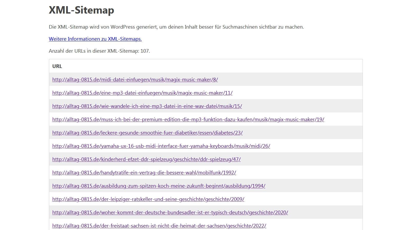 XML Sitemap für Google kostenlos erstellen
