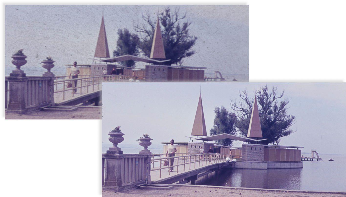 Der Diascanner Nikon Coolscan 5000 ED liefert unscharfe Bilder von in Glas gefassten Dias